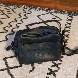 Black leather crossbody JCrew purse